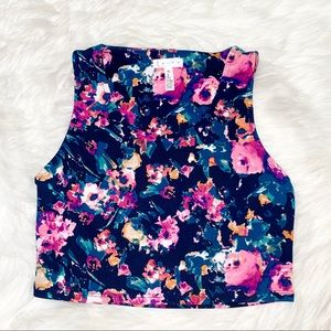Leith floral crop top size XS